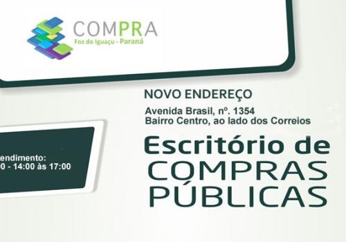 Escritório de Compra Pública - Novo Endereço