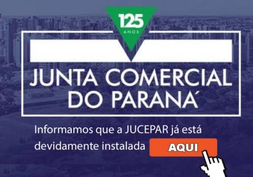 Informamos que a JUCEPAR - Junta Comercial do Estado do Paraná, já está devidamente instalada em Foz